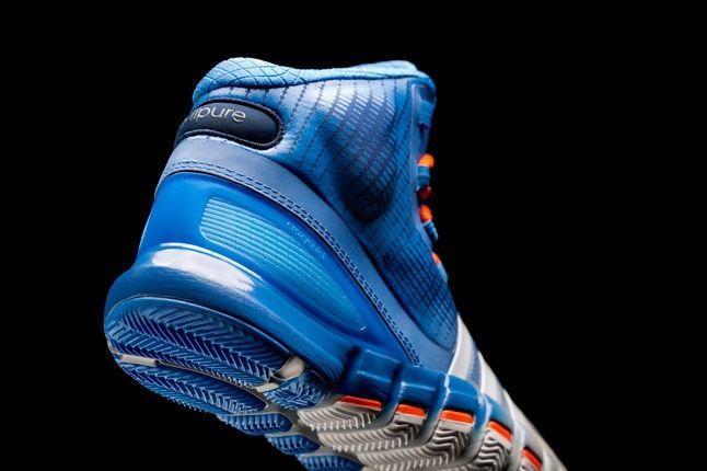 Adidas Crazyquick Blue Silver Orange Heel Quarter 1