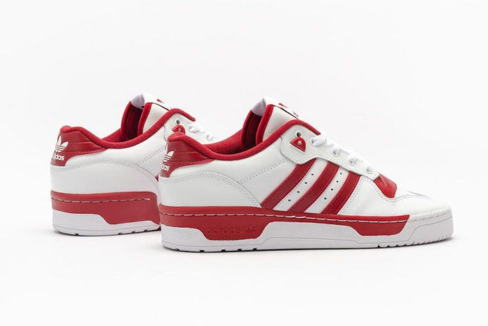 Adidas Rivalry Low White Red Ee4967 Rear Angle