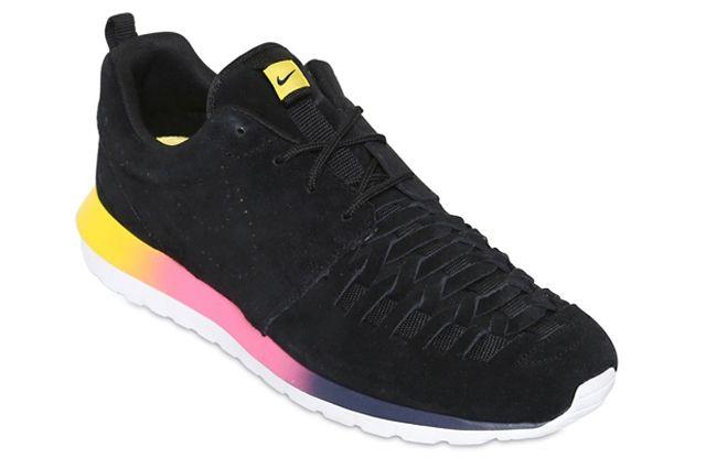 Nike Roshe Run Nm Woven Black Suede Rainbow Sole 2