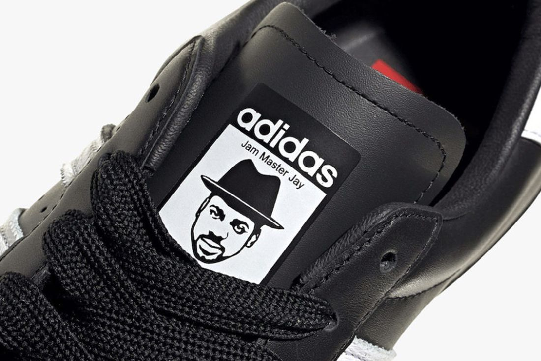 Jam Master Jay adidas superstar on white