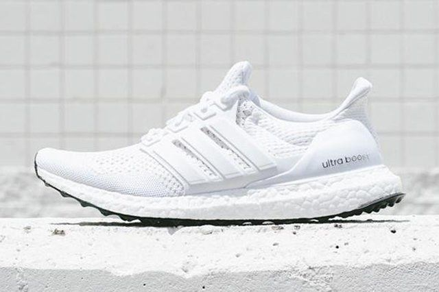 Adidas Ultra Boost White Black Bottom 1