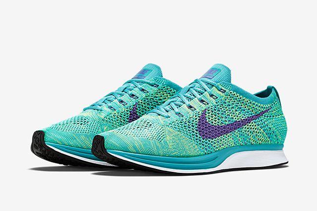 Nike Flyknit Racer Sport Turquoise Hyper Grape Volt