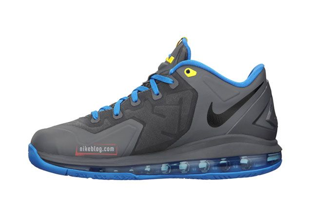 Le Bron 11 Low Gs Gry Blu Sideview2