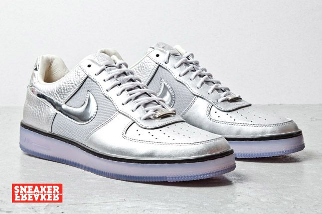 Nike Air Force 1 Downtown Silver 2 1