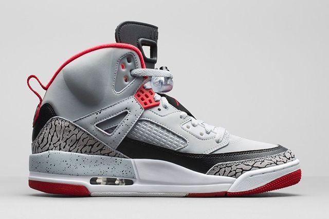 Air Jordan Spizike Wolf Grey Gym Red Bump 4