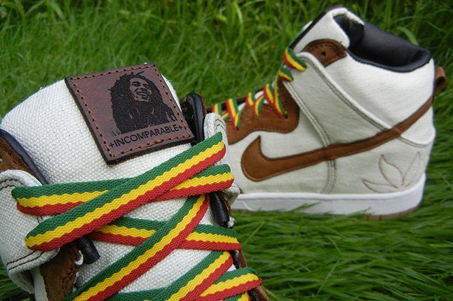 Jbf Customs Nike Dunk Sb Bob Marley Tongue Detail