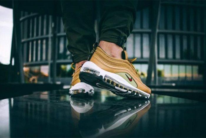 Nike Air Max 97 Metallic Gold On Feet 2