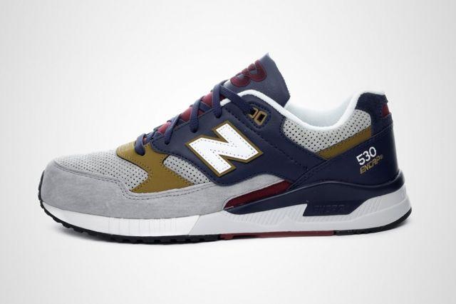 New Balance 530 Grey Navy Gold 1