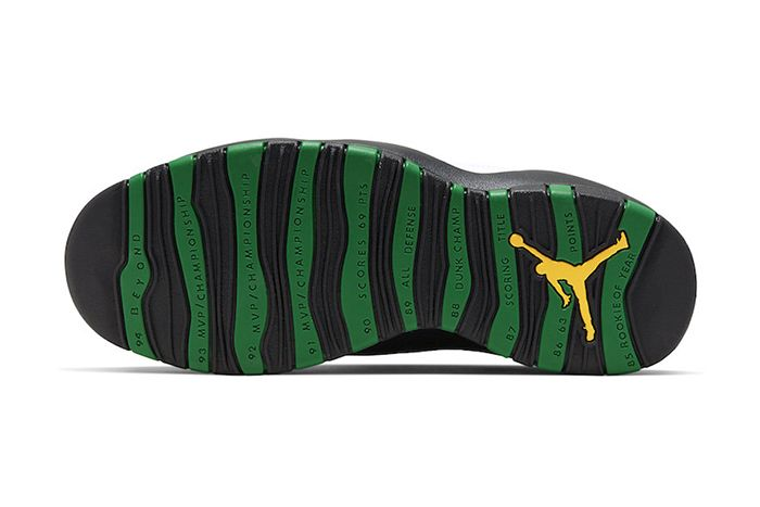 Air Jordan 10 Seattle 310805 137 Release Date Outsole