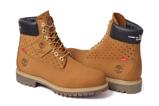 Comme Des Garçons Shirt X Supreme X Timberland 6 Inch Premium Waterproof Boot