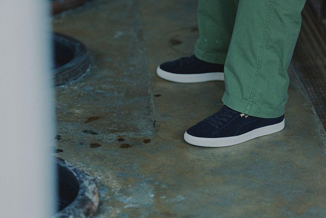 Cluct X Mita Sneakers X Puma Clyde Indigo 10