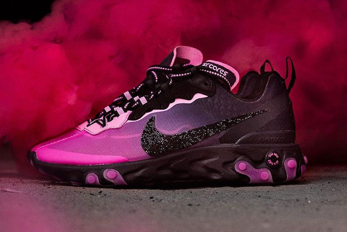 Sneaker Room Nike React Element 87 Pink Breast Cancer Release Date 5 Side