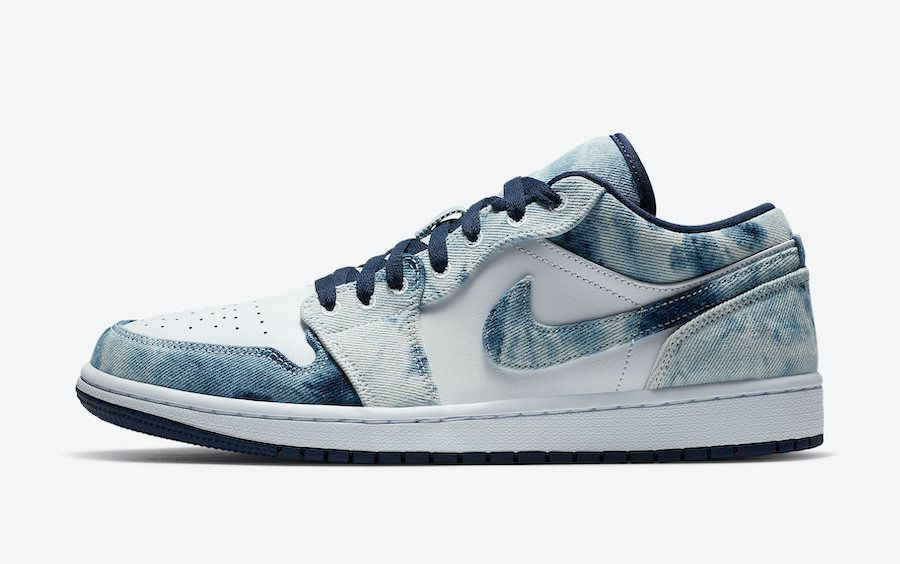 Air Jordan 1 Low Washed Denim Left