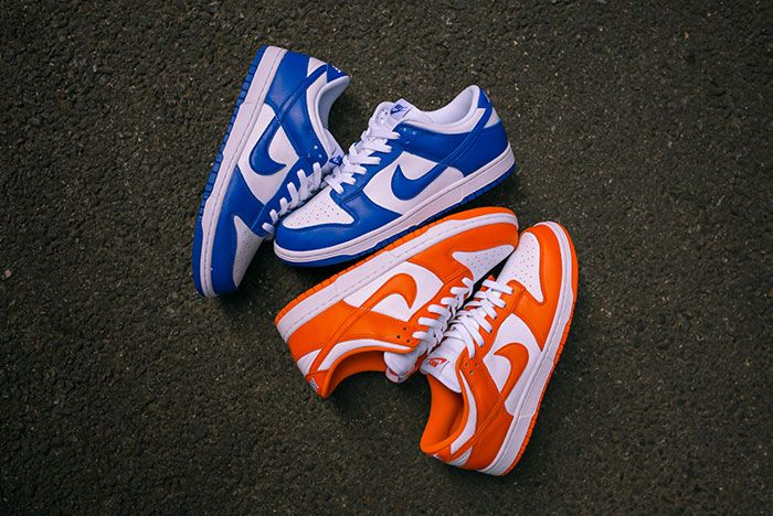 Nike Dunk Low Kentucky Syracuse Up Close Hero Shot Laced Sneaker Freaker9