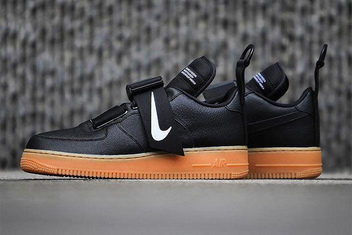 Nike Air Force 1 Utility Black Gum 1