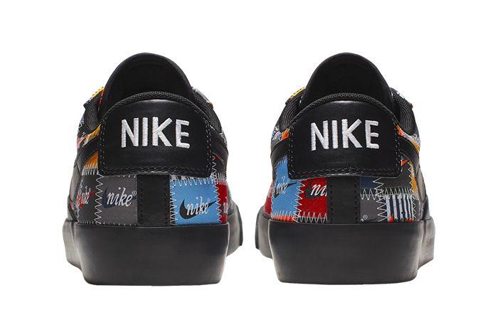 Nike Blazer Low Patchwork Ci9888 001 Release Date Heel