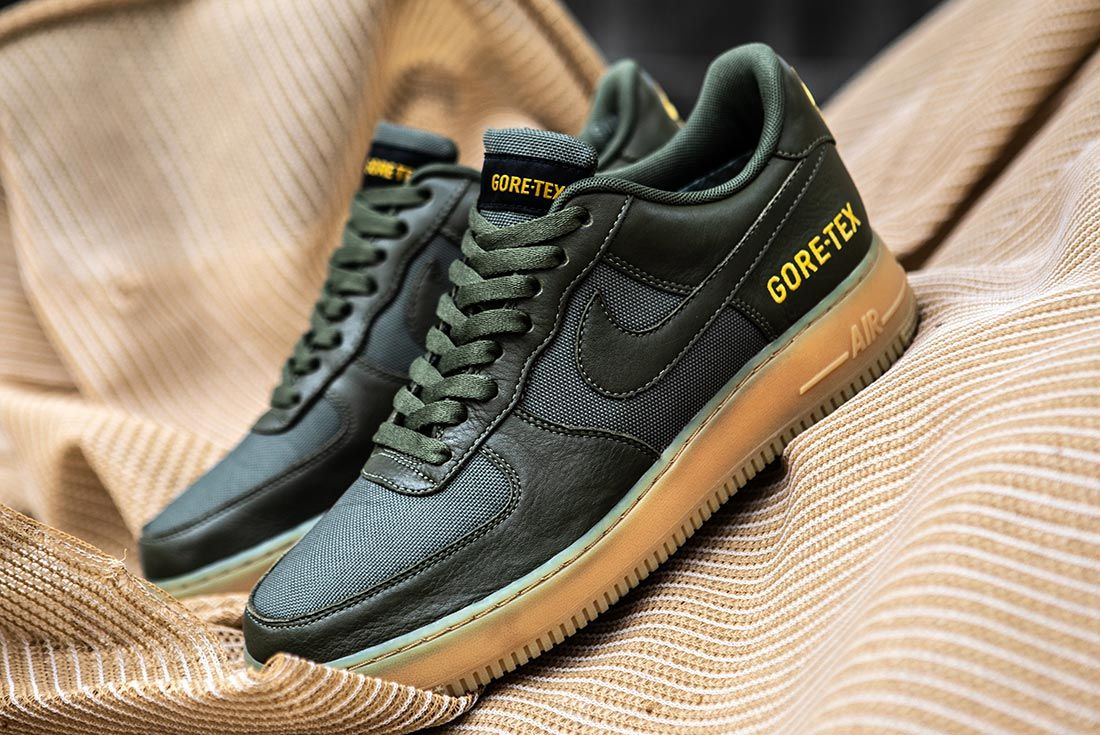 Nike Air Force 1 Gore Tex Green Left Side
