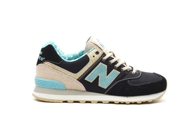 New Balance 574 Floral Hemp Pack Baby Blue And Navy 1