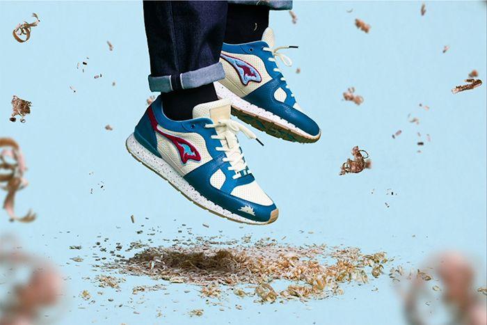 Sneakerbaas Kangaroos Coil R1 Turtle 4711T 000 8201 Release Date Hero Feet