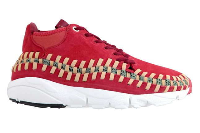 Nike Footscape Woven Chukka Knit Red Reef Profile 1