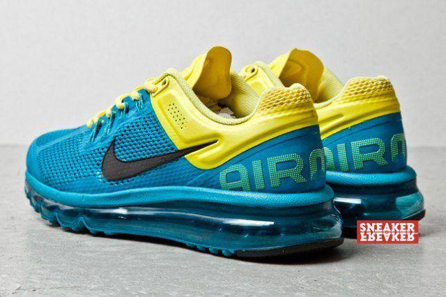 patinar Inaccesible Vandalir  Nike Air Max+ 2013 (Tropical Teal/Sonic Yellow) - Sneaker Freaker