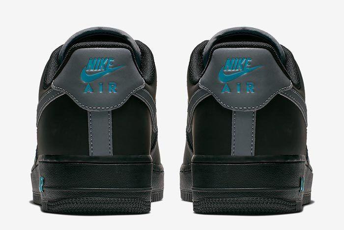 Nike Air Force 1 Black Blue 5