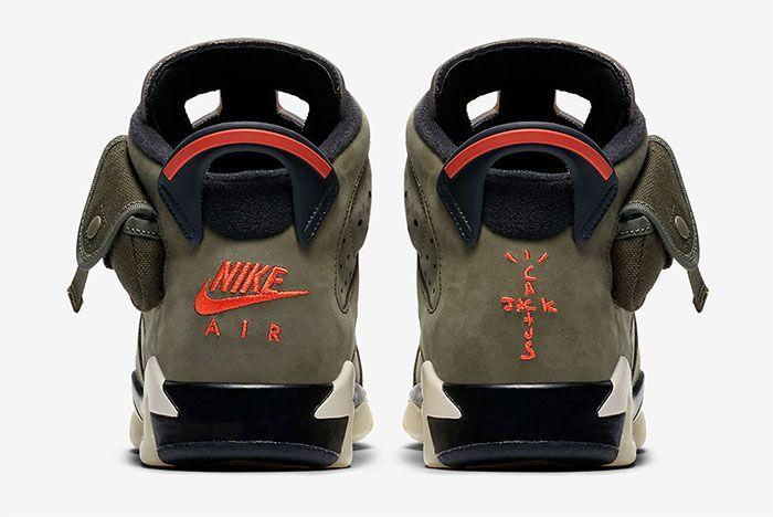 Air Jordan 6 Travis Scott Gs Heel
