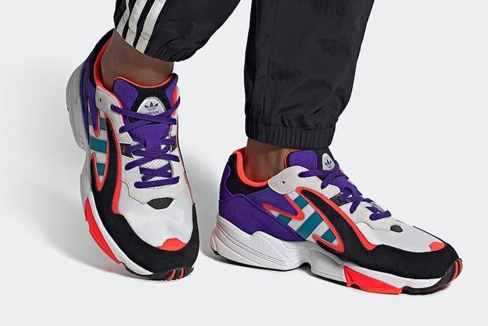 Adidas Yung 96 Chasm Active Teal On Foot
