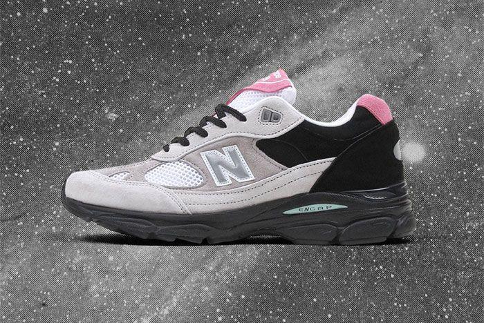 New Balance 991 9 Grey Black Pink Side Shot 1