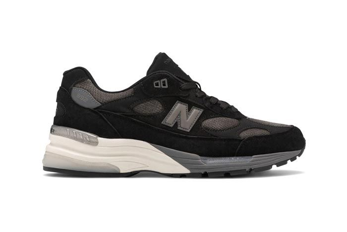 New Balance Made In Usa 992 Black Grey Lateral