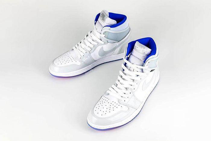 Air Jordan 1 High Zoom R2 T White Racer Blue Ck6637 104 High Angle