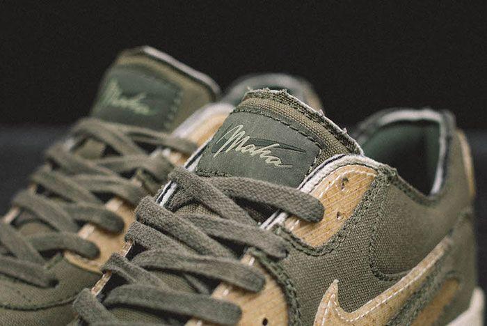 Maharishi Nike Air Max 90 Maha Olive Tongue Detail