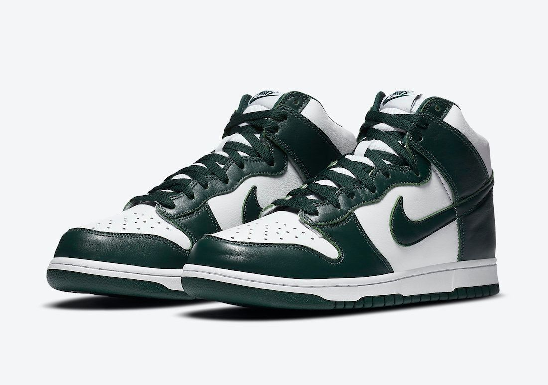 Nike Dunk High Pro Green Angled