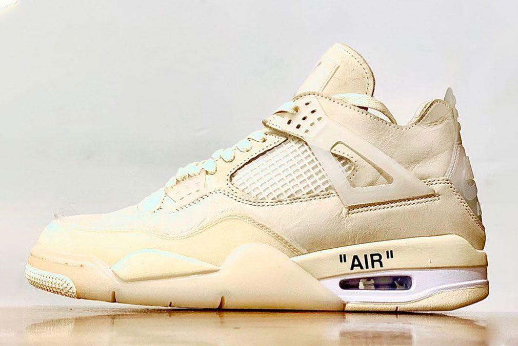 Off-White x Air Jordan 4 'Sail'