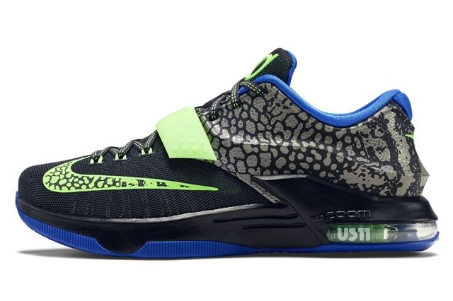 Nike Kd 7 Black Green Blue 21