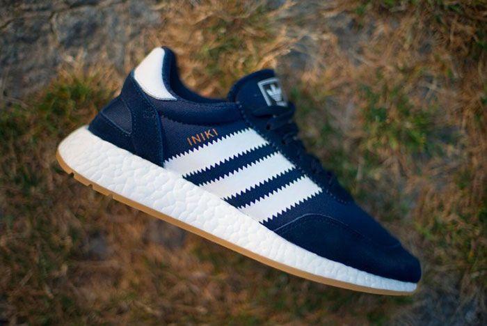 Adidas Iniki Runner Navy Blue Gum 4