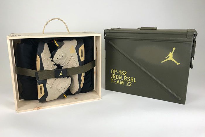 Air Jordan 6 Mlb Pe Canvas 4 Box And Pair