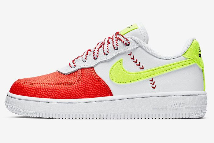 Nike Air Force 1 Red Green Left