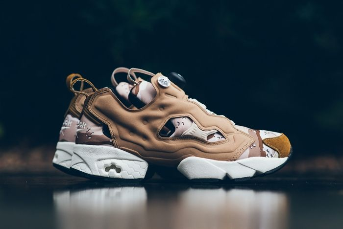 Reebok Pump Fury Tweed Brown Camo Sneaker Politics Thumb