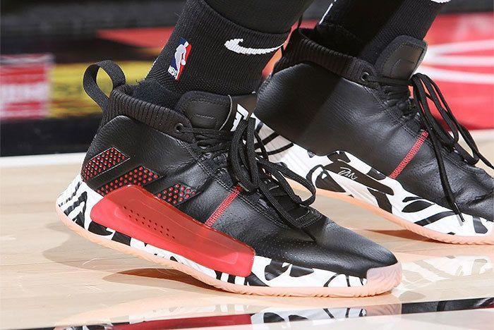 Adidas Dame 5 Black Red 1