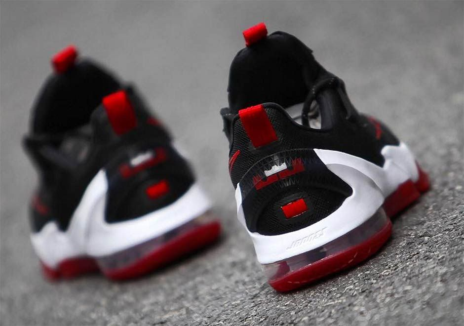 Nike Lebron 13 Low Black Red Detailed Look 5