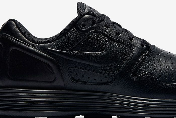 Nike Lunar Flow Triple Black Leather 1