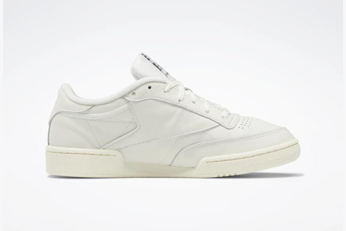 Reebok Club C 85 Chalk Classic White Glen Green Medial