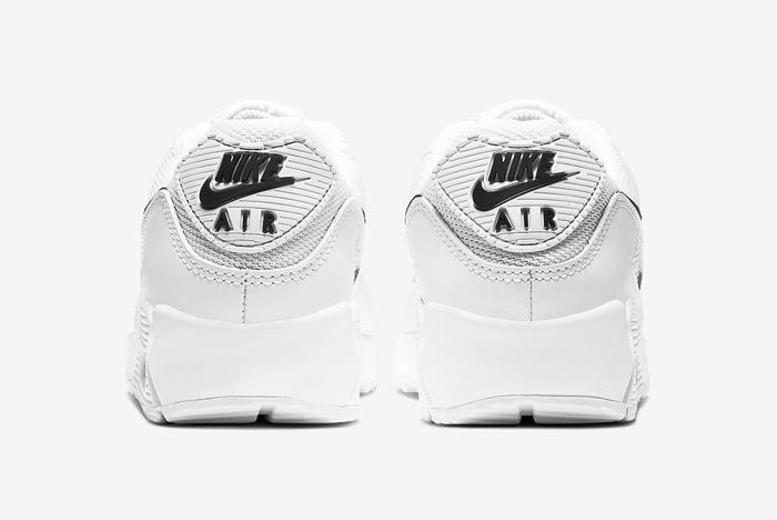 Nike Air Max 90 White Black Womens Heels