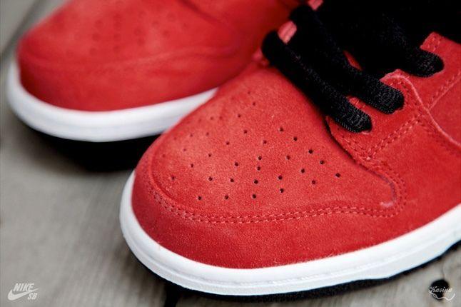 Nikesb Dunk Low Firecracker Pack Red Toe Detail 1
