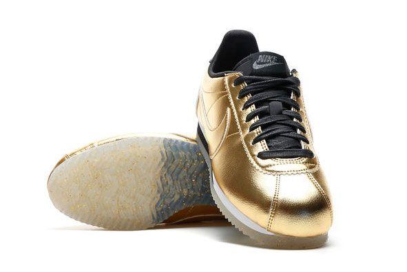 Nike Classic Cortez Leather Metallic Gold 4