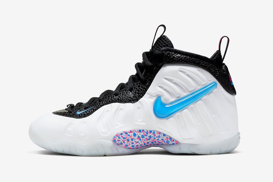 Nike Little Posite Pro 3 D White Blue Hero Red Orbit 644792 102 Lateral