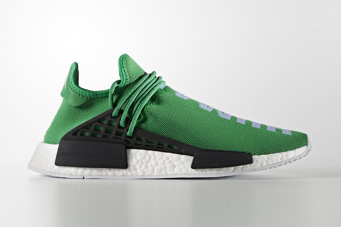 Pharrell Williams X Adidas Hu Nmd Green2