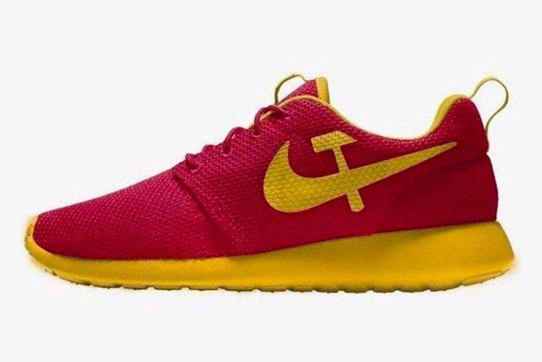 Nike Roshe Run Hammer Sickle Left