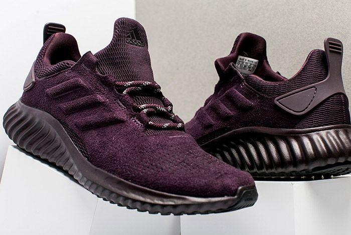 Adidas Alphabounce Suede Burgundy Womens 2